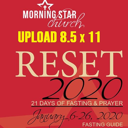 RESET 2020 21-Day Fast Guide & Journal (8.5x11)