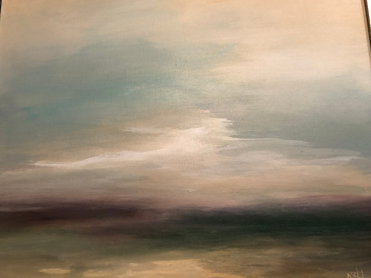 """SOLD.  On The Pale Horizon     20"""" x 18"""""""