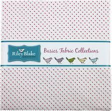 Riley Blake Swiss Dots- Hot Pink Layer Cake