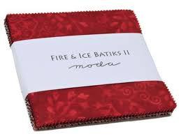 Batik Fire Ice II Charm Pack