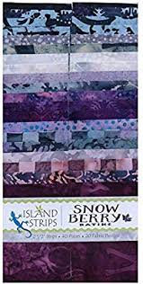Batik Snowberry Strips
