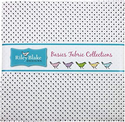 Riley Blake Swiss Dots- Navy Layer Cake
