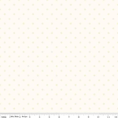 Riley Blake Swiss Dots- Cream Layer Cake