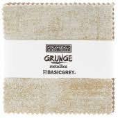 Moda Grunge Metallic Mini Charm Pack