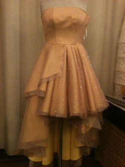 Organza & tulle layered bustier dress