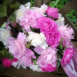 fluffy pink bridal