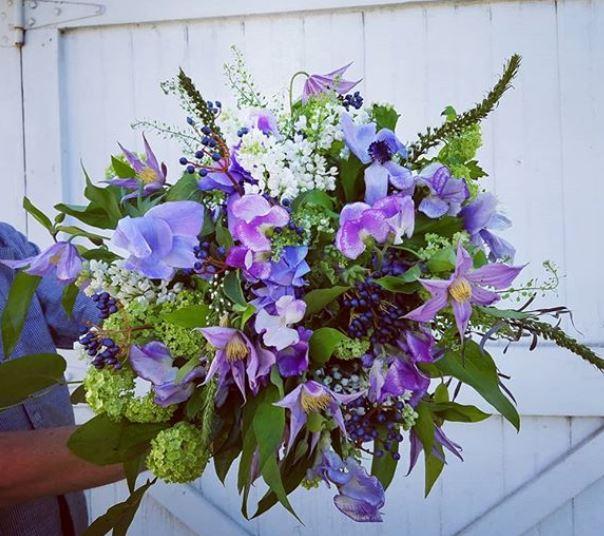 easter purple arrangement insta