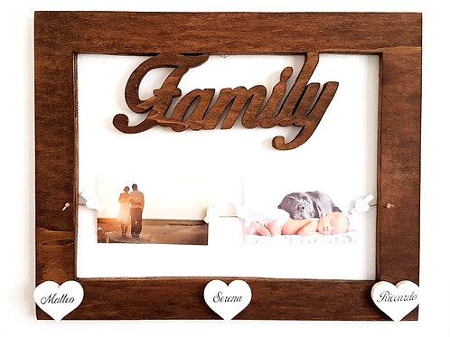 """Cornice Portafoto Family """"Legno"""""""