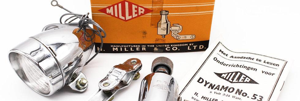 MILLER SET GEEL LAMP + DYNAMO + DOOS