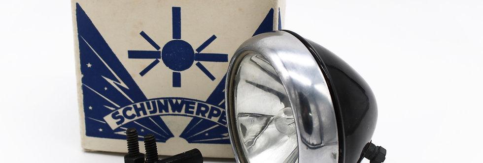 SCHIJNWERPER VOORLICHT BLAUW GLAS: 8 CM