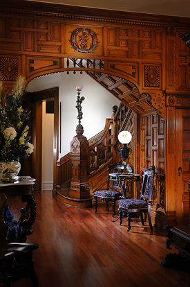Front Hall of Queen Anne Mansion