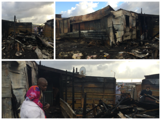 Shop burned down in Vrygrond