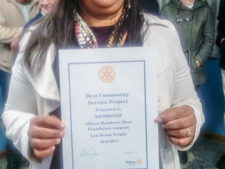 Best community service Project - Kroomboom Rotary (Len Breen Trophy 2016-2017)