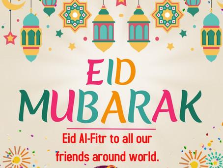 Eid Mubarak to our Muslim Friends