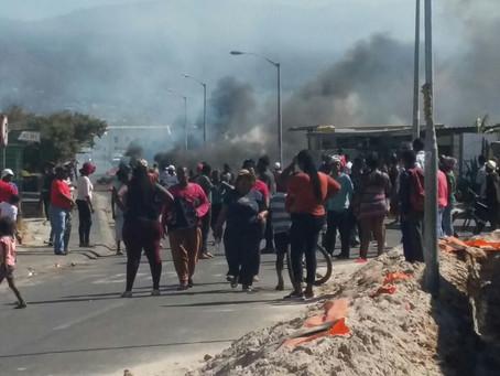 Violent protesting over Land in Vrygrond