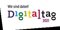 Logo von Digitaltag mit Wir sind dabei Slogan