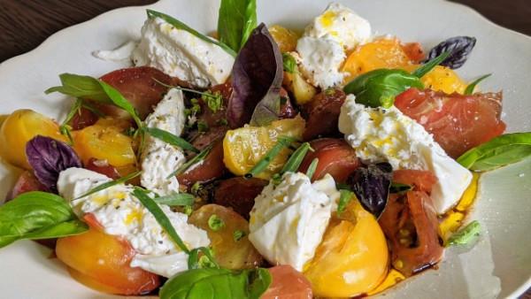 Tomates coeur de boeuf et Mozza di Buffala