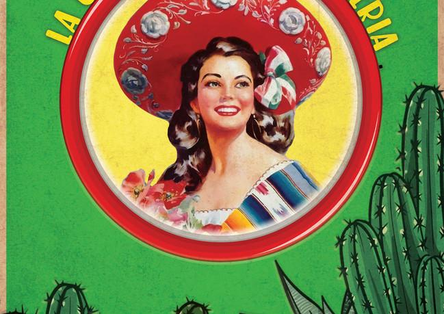 Menu cover with custom logo