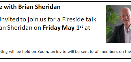 Online Chat with Brian Sheridan :: May 1st @ 8pm.
