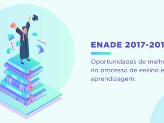 ENADE 2017-2019 - OPORTUNIDADES DE MELHORIA NO PROCESSO DE ENSINO E APRENDIZAGEM