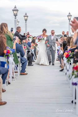 Wedding ceremony at Marine Del Rey, NY