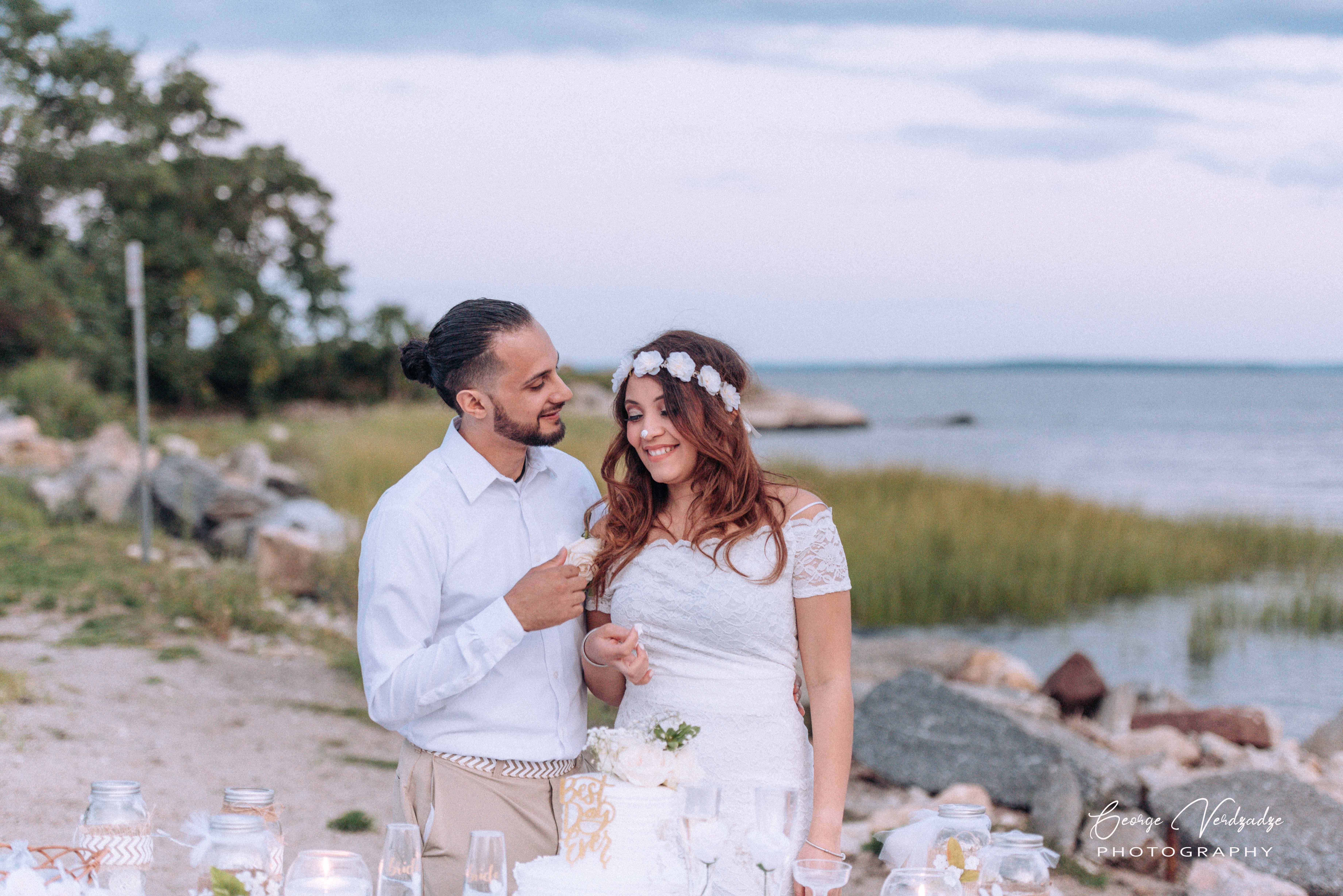 Wedding photography at Cove Beach