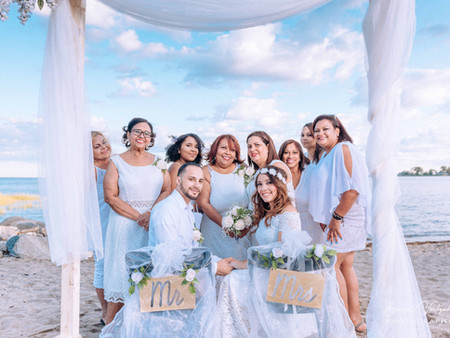 Beach Wedding Photography at Cove Island - Stamford, CT