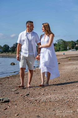 Engagement photography at Cove Beach, Stamford, CT
