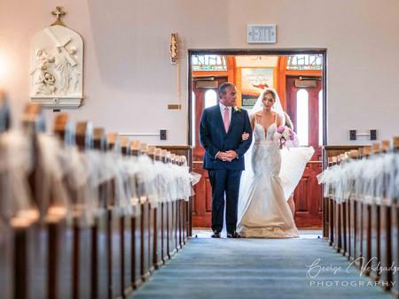 Wedding Ceremony at St. Gabriel's church- Milford, CT