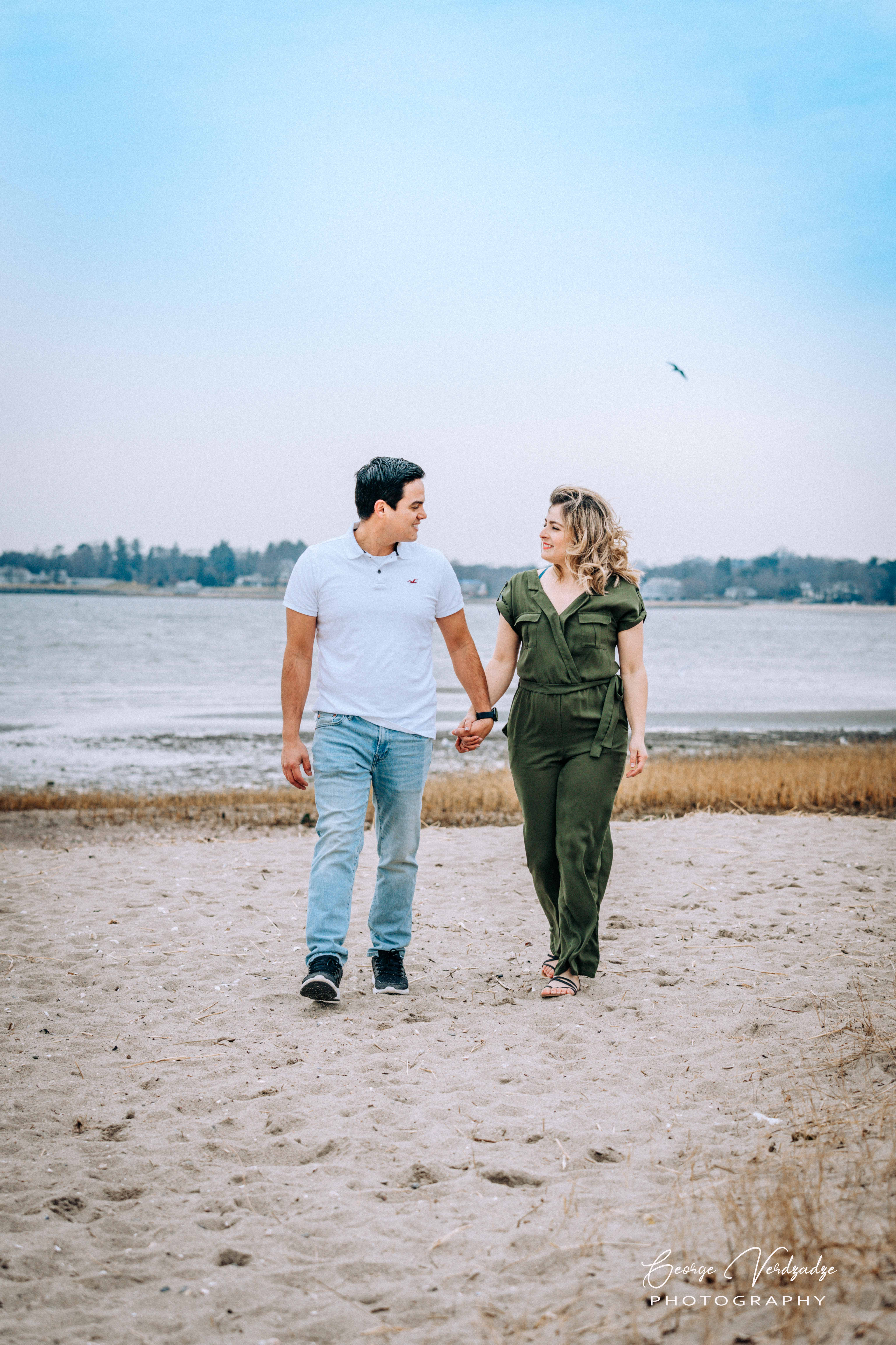 Engagement Photography session at Fairfield beach