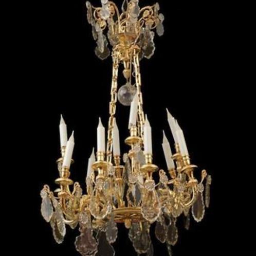 lustre bronze doré cristal de baccarat