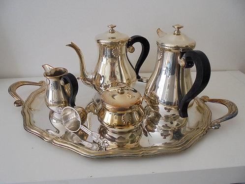 service à café métal argenté