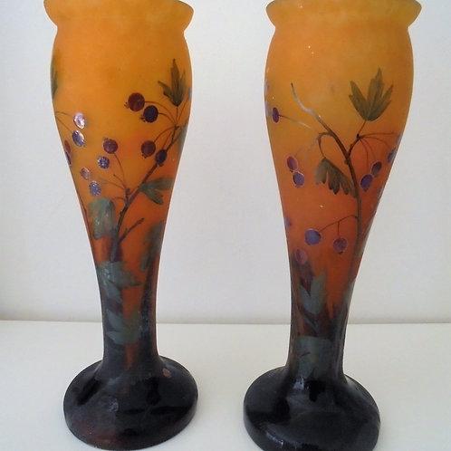 Paire de vases Mado art nouveau