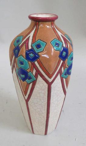 Vase faience de Longwy art deco