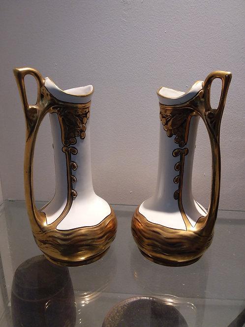 Paire de vases julius Dressler Austria