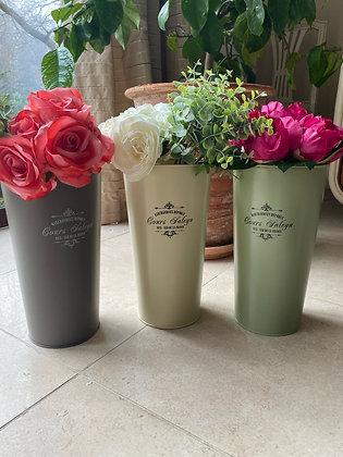 Vintage flower bucket