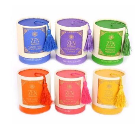 Scented zen candles