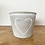 Thumbnail: Cement planter with heart outline