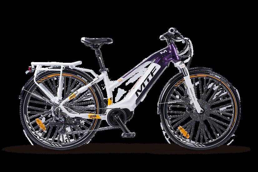 Trekking e-bike da donna MTF Road 6.1 con 180 km di autonomia vista di lato