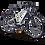 Bicicletta elettrica da trekking MTF Road 6.1 con batteria da 730 Wh