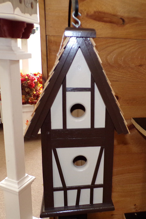 Hanging Tudor Swiss Style 2 Cluster Birdhouse