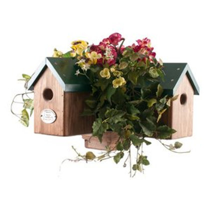 4 Cluster Planter Post Birdhouse