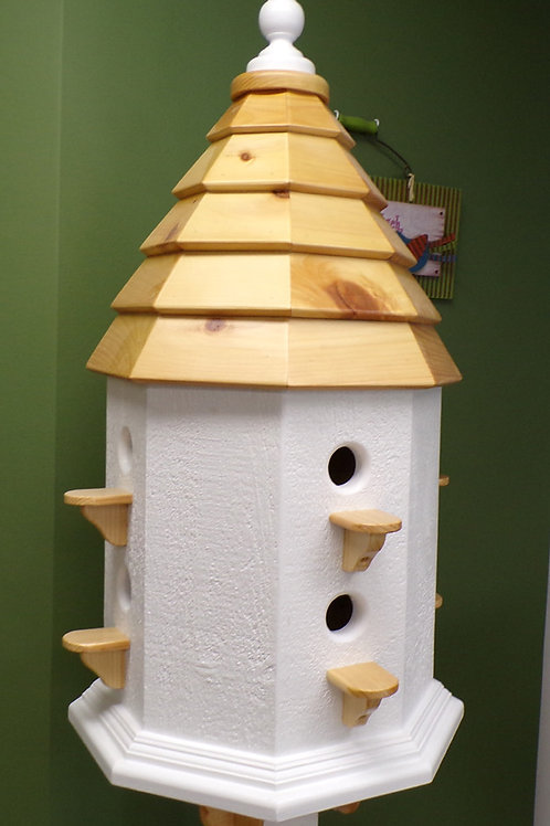 8 Cluster Roundabout Post Birdhouse