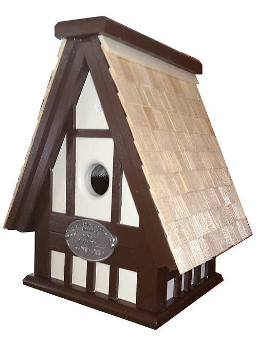 Hanging Tudor Swiss Style 1 Cluster Birdhouse