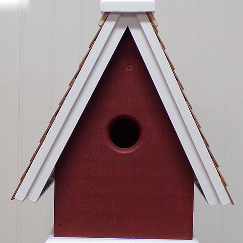 1 Cluster Swiss Style Hanging Birdhouse
