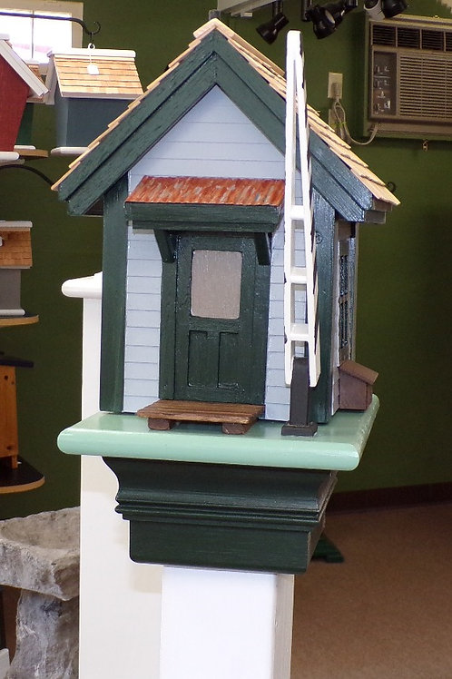 Railroad Crossing Shanty Shack Birdhouse