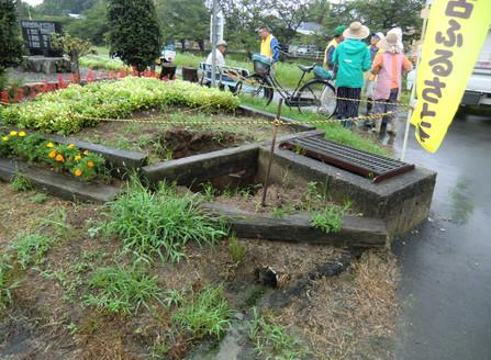 7月例会 花壇の災害&整備