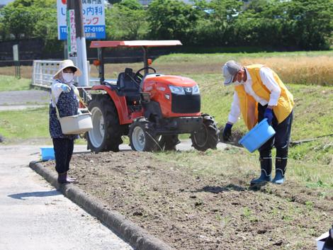 2021.5.19 移植地の肥料と耕運