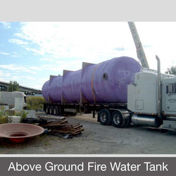 Above Ground Fire Water Tank