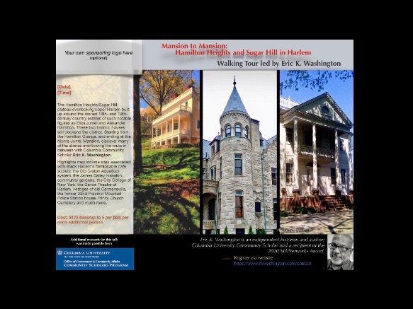 Mansion to Mansion: Ham Hts/Sugar Hill